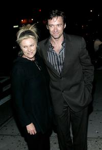 Deborrah-Lee Furness and Hugh Jackman at the 49th Annual Drama Desk Awards.
