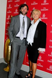 Hugh Jackman and Deborrah-Lee Furness at the Emirates Marquee on Emirates Doncaster Day.