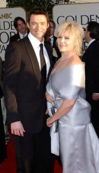Hugh Jackman and Deborrah-Lee Furness at the 59th Annual Golden Globe Awards.