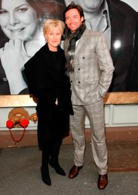 Deborrah-Lee Furness and Hugh Jackman at the Broadway opening of