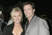 Deborrah-Lee Furness and Hugh Jackman at the Australian premiere of