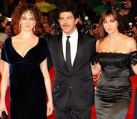 Kseniya Rappoport, Pierfrancesco Favino and Monica Bellucci at the premiere of