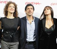 Kseniya Rappoport, Pierfrancesco Favino and Monica Bellucci at the photocall of