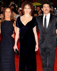 Maria Sole Tognazzi, Kseniya Rappoport and Pierfrancesco Favino at the premiere of