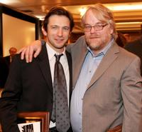 Dan Futterman and Philip Seymour Hoffman at the 31st Annual Los Angeles Film Critics Association Awards.