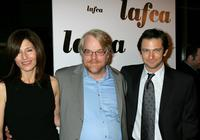 Catherine Keener, Philip Seymour Hoffman and Dan Futterman at the 31st Annual Los Angeles Film Critics Association Awards.