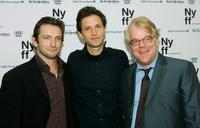 Dan Futterman, Bennett Miller and Philip Seymour Hoffman at the New York Film Festival premiere of