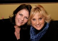 Mo Gaffney and Lorna Luft at the afterparty of Kathy and Mo's greatest hits.