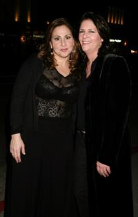 Kathy Najimy and Mo Gaffney at the afterparty of Kathy and Mo's greatest hits.