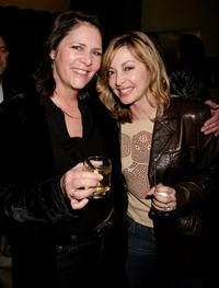 Mo Gaffney and Sharon Lawrence at the opening night of