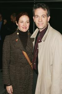 Kathleen McNenny and her husband Boyd Gaines at the play opening of Roundabout Theatre Comanys