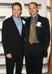 Boyd Gaines and Michael Mastro at the curtain call of the premiere of