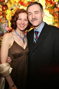 Kathleen McNenny and Boyd Gaines at the opening night after party of