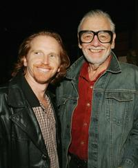 Courtney Gains and George Romero at the party to celebrate