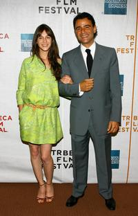 Charlotte Gainsbourg and Vincenzo Amato at the premiere of