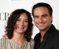 Sara Gilbert and Johnny Galecki at the CBS Comedies Season premiere Party.