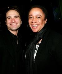 Johnny Galecki at the play opening night of