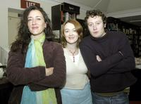 Maria Doyle Kennedy, Bronagh Gallagher and Robert Arkins at the Alan Parker's first book launch,