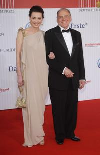 Iris Berben and Bruno Ganz at the German Film Awards.