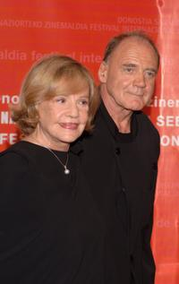 Jeanne Moreau and Bruno Ganz at the Closing Ceremony of 54th San Sebastian Film Festival.