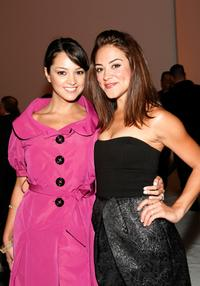 Paula Garces and Camille Guaty at the Cynthia Steffe Spring 2009 fashion show during the Mercedes-Benz Fashion Week.