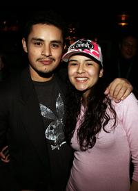 Jesse Garcia and Emily Rios at the Cinetic Media Party during the Sundance Film Festival.