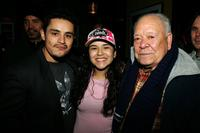 Jesse Garcia, Emily Rios and Chalo Gonzalez at the Cinetic Media Party during the Sundance Film Festival.