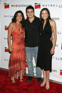 Alicia Sixtos, Jesse Garcia and Emily Rios at the premiere of