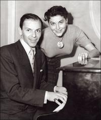 Ava Gardner and her singer husband Frank Sinatra at Reno's night club.