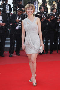 Dinara Droukarova at the red carpet of Palme d'Or Award Closing Ceremony during the 63rd Annual Cannes Film Festival.