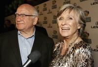 Ed Asner and Cloris Leachman at the celebration for Cloris Leachman's 60 years in show business.