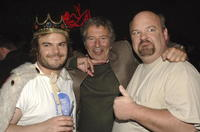 Jack Black, Bob Shaye and Kyle Gass at the after party of the premiere of