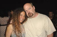 Collette Brooks and Kyle Gass at the after party of the premiere of