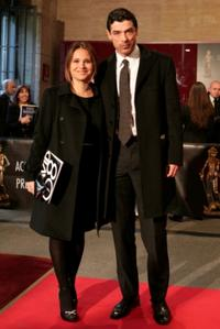 Alessandro Gassman and his wife Sabrina Kaflitz at the David di Donatello Movie Awards.