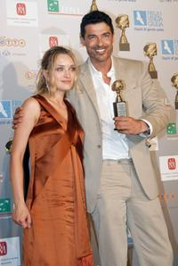 Alessandro Gassman and Carolina Crescentini at the Globo DOro Foreign Press Association Awards.