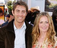 John Gatins and Elisabeth Shue at the premiere of