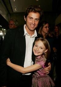John Gatins and Dakota Fanning at the premiere of