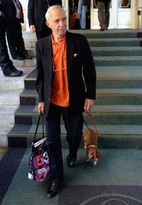 Ben Gazzara and his dog Maxi at the 53rd San Sebastian International Film Festival.