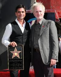 John Stamos and Anthony Geary at the Hollywood Walk of Fame.