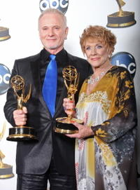 Anthony Geary and Jeanne Cooper at the 35th Annual Daytime Emmy Awards.