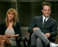 KaDee Strickland and Paul Adelstein at the ABC portion of Television Critics Association Press Tour.