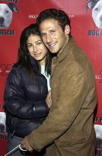 Mark Feuerstein and his friend Dana at the Hollywood Dog Bowl.