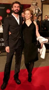 Fabrizio Gifuni and Sonia Bergamasco at the David di Donatello Movie Awards.