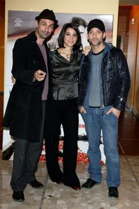 Fabrizio Gifuni, Donatella Finocchiaro and Beppe Fiorello at the photocall and press conference of