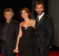 Director Andrea Porporati, Donatella Finocchiaro and Fabrizio Gifuni at the 64th Venice Film Festival.