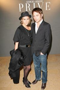 Vahina Giocante and boyfriend at the Giorgio Armani Prive Spring/Summer 2008 Haute Couture Collection Show.
