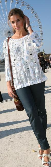 Vahina Giocante at the Chloe fashion show during the Spring/ Summer 08 fashion week.