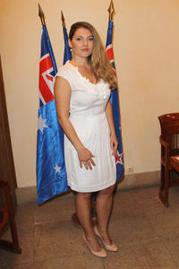 Sophie Guillemin at the Official Mayor's Reception during the 12th International
