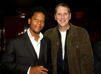D.L. Hughley and Doug Herzog at the Comedy Central's