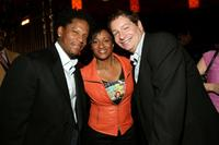 D.L. Hughley, Wanda Sykes and Jeffrey Ross at the Comedy Central Bar Mitzvah Bash after party.
